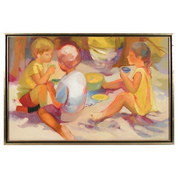 275: Carol Sideman. American, 20th C, Oil Painting