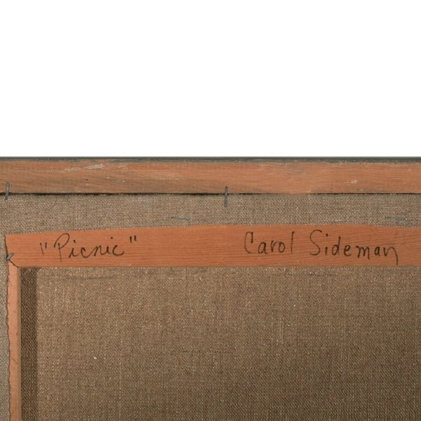 275: Carol Sideman. American, 20th C, Oil Painting - 3