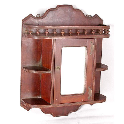 13: Victorian Cherry Wall Cabinet.