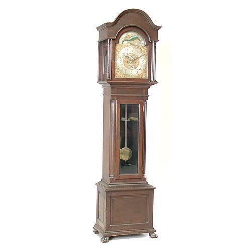 14: Tiffany & Co. Mahogany Case Tall Clock.