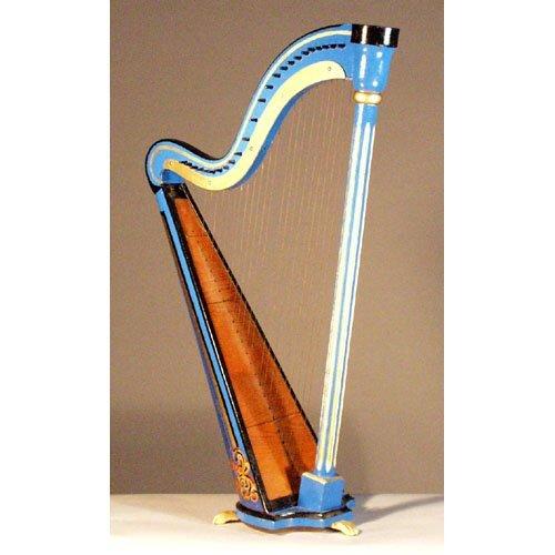 19: Victorian Table Harp.