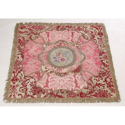 23: Embroided Victorian Table Throw.