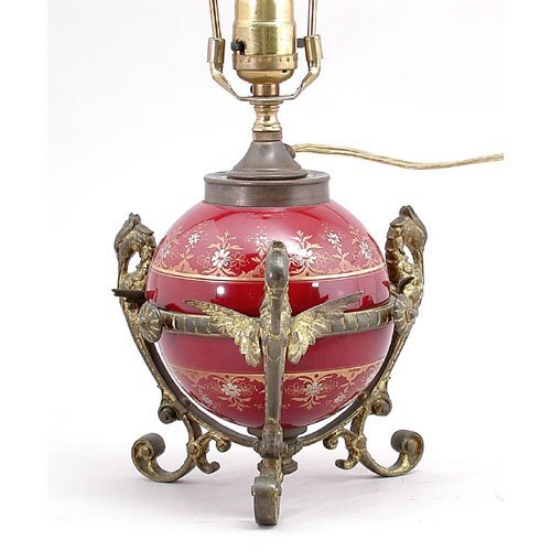 24: Victorian Lamp With Figures.