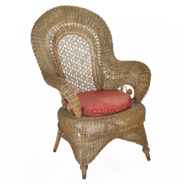 Heywood Wakefiled Fancy Wicker Sidechair