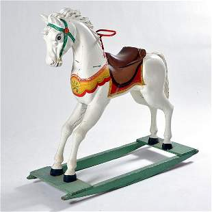 Early 20th C Rocking Horse