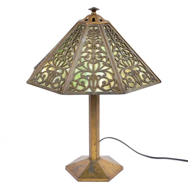 Bradley & Hubbard, Brass Table Lamp