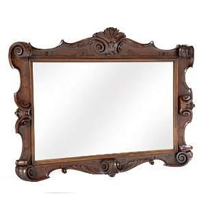 American Carved Mahogany Mirror