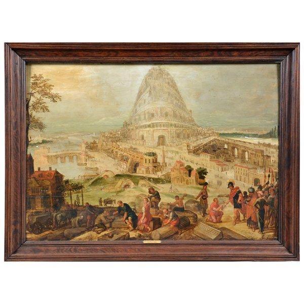 Hendrik Van Cleve (1525-1589), Attrib, Tower of Babel