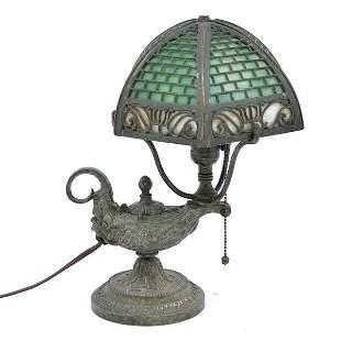 Victorian Bradley & Hubbard Bronze Lamp