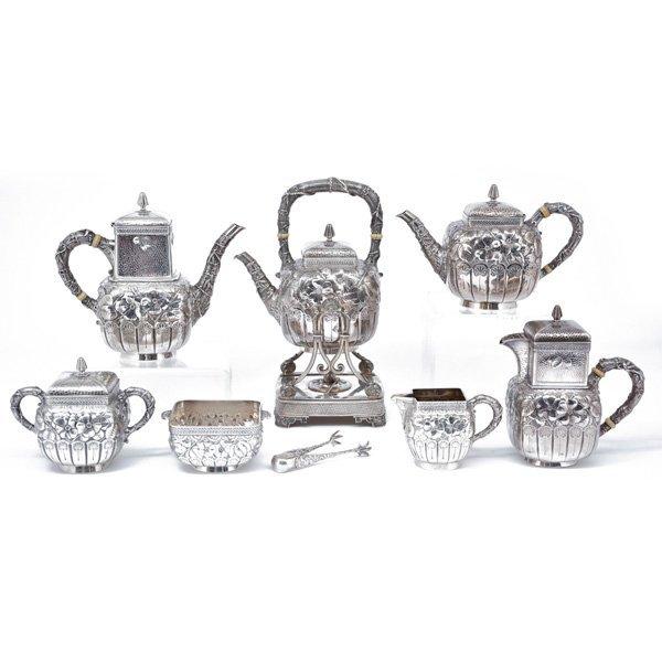Gorham Sterling Tea & Coffee Service,  Pattern 1580