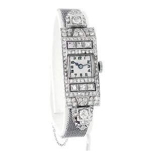 Art Deco Vacheron Constantin Diamond & Platinum Watch