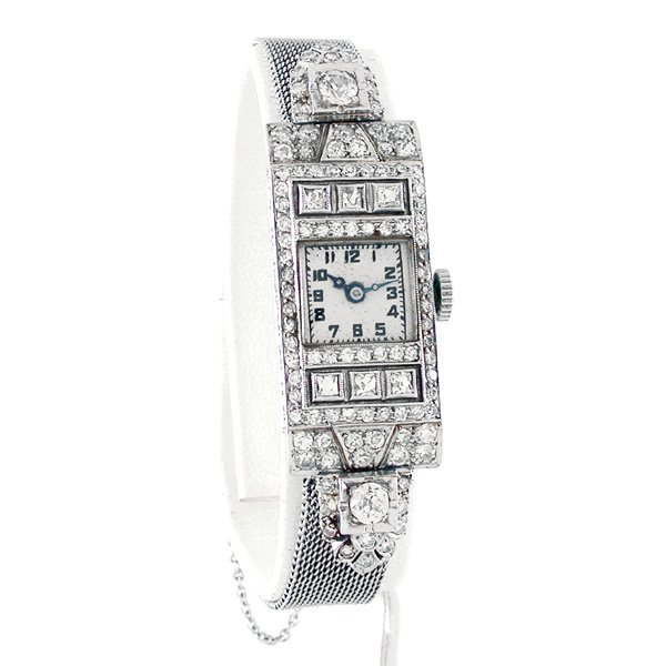 Art Deco Vacheron Constantin Diamond & Platinum Watch