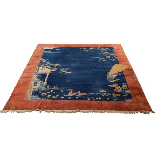 Chinese Room Size Rug, Peacock and Egret
