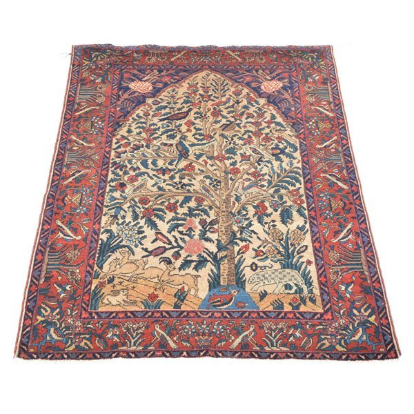 Persian Scatter Rug, Tree of Life