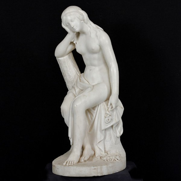 Pietro Franchi, Marble Sculpture of a Nude, 19thC