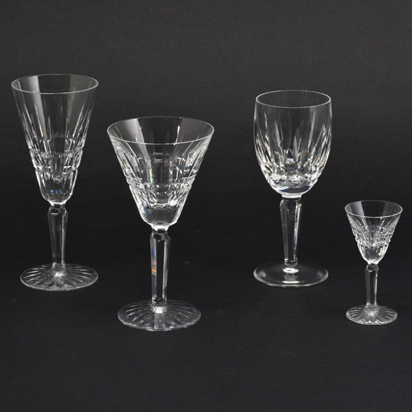 Lot of 36 Waterford Glassware, Pattern Lismore