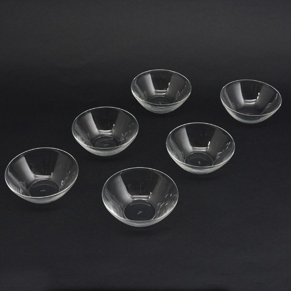 Set of 6 Lalique Fruit Bowls