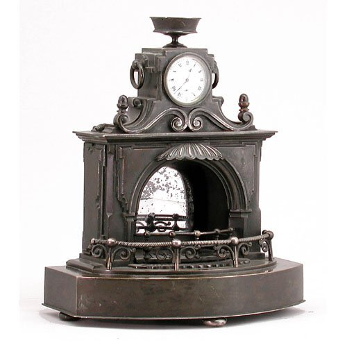 "2: French Bronze ""Mantle"" Mantle Clock."