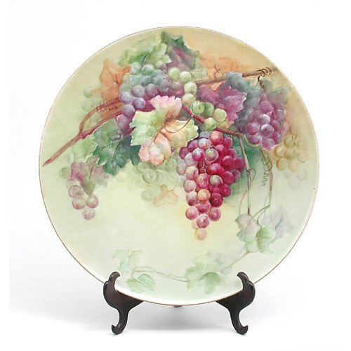 "4: Limoges 16"" Charger, With Grapes."