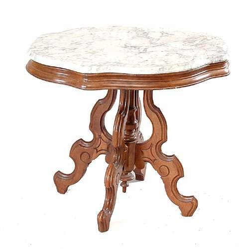 6: Victorian Marble Top Table.