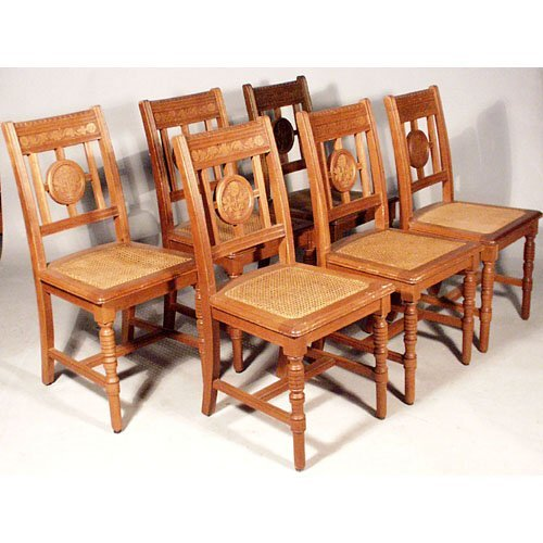 21: Set Of Six Eastlake Chairs.