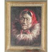 381: Harvey Goodale Eskimo Portrait.