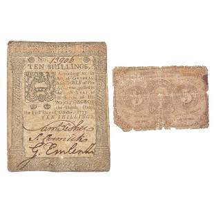 18th and 19th C Currency Notes