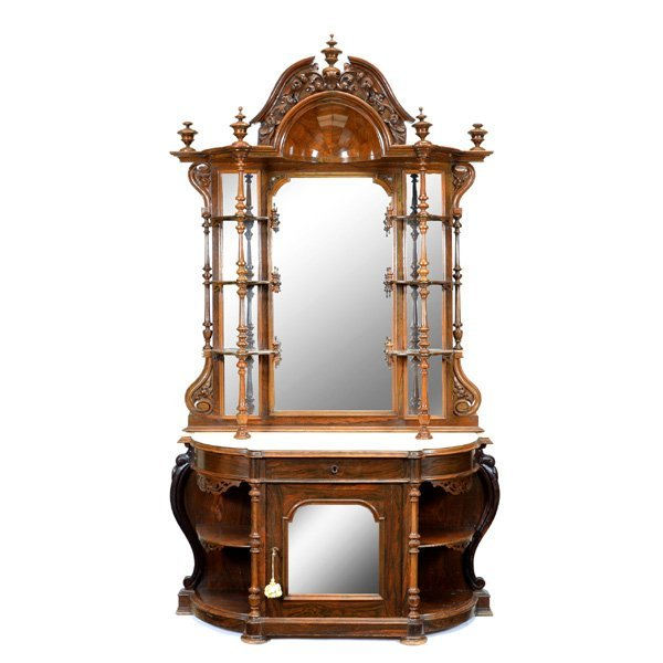 American Victorian Rosewood Etagere