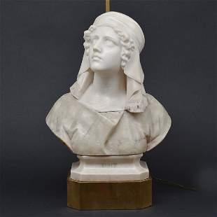 Italian Alabaster & Marble Bust, Prof.G Besji, 19th