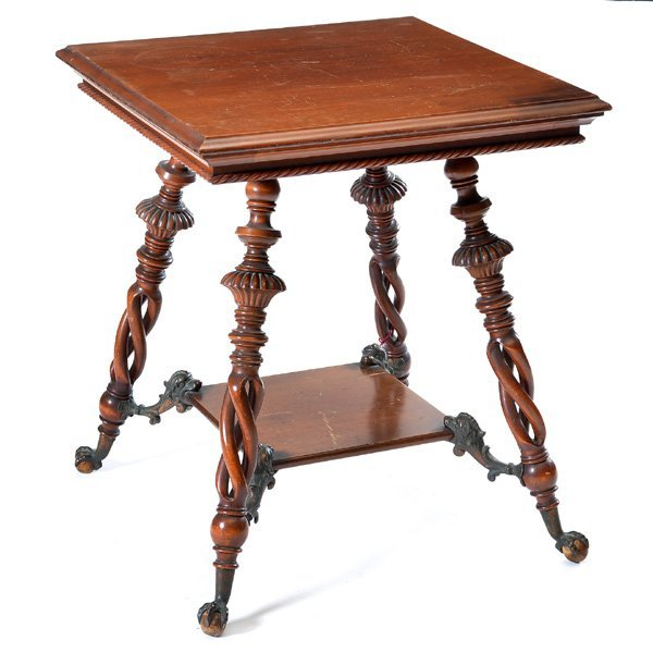 American Victorian Cherry Lamp Table