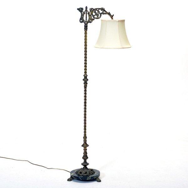 Victorian Brass Floor Lamp