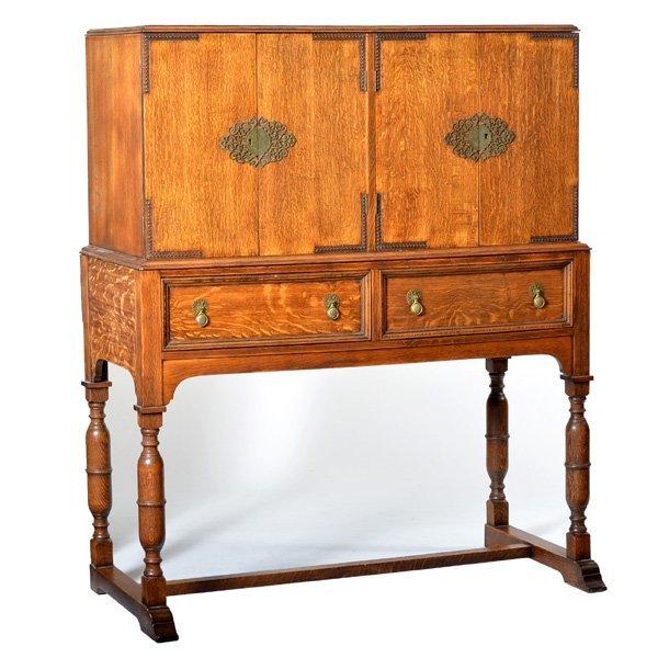 Chinese Style Oak Cabinet