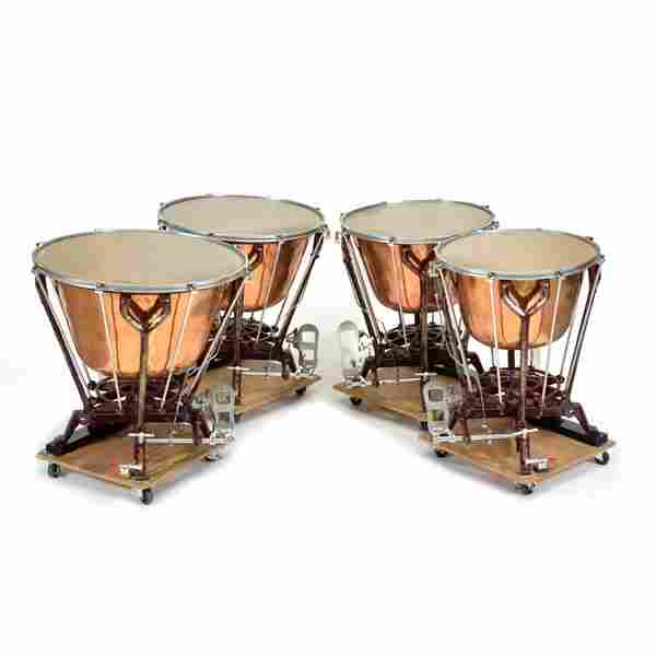 Set of 4 Walter Light Mark XI Timpani Drums