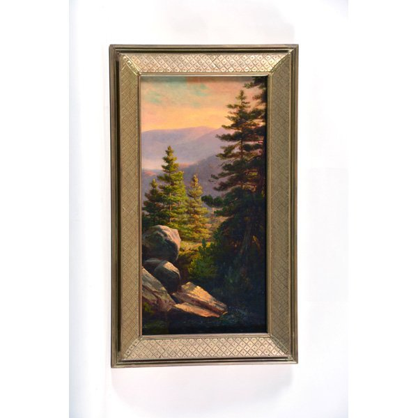 Thomas Hill, Painting, Mountain Scene