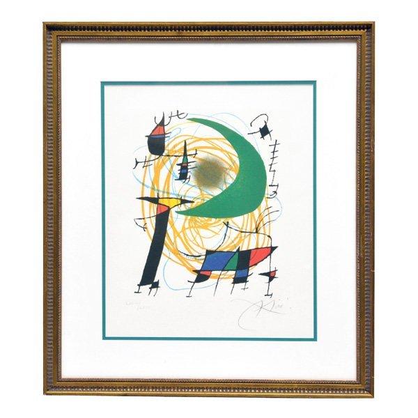 """Joan Miro, Lithograph, """"La Lune Verte"""""""