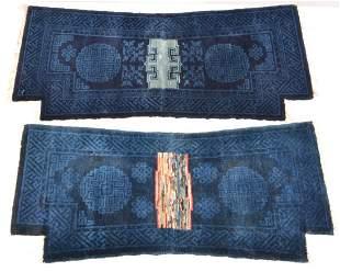 (2) Chinese Indigo Saddle Covers