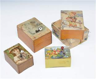 Grouping of 4 Swiss Lador music boxes,