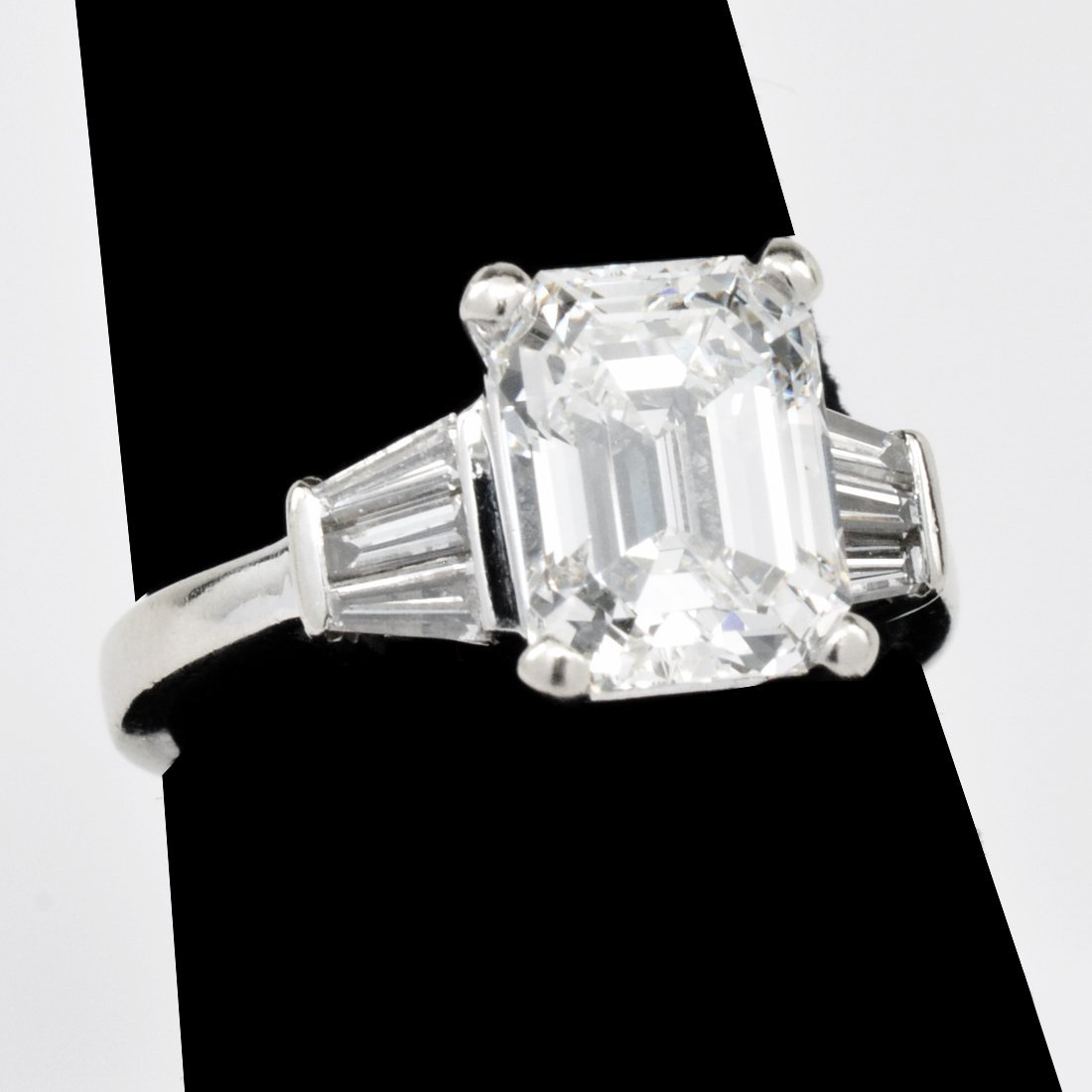 3.21 Carat Emerald-Cut Diamond Ring with GIA