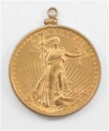 1910 S $20 Saint Gaudens Gold Double Eagle