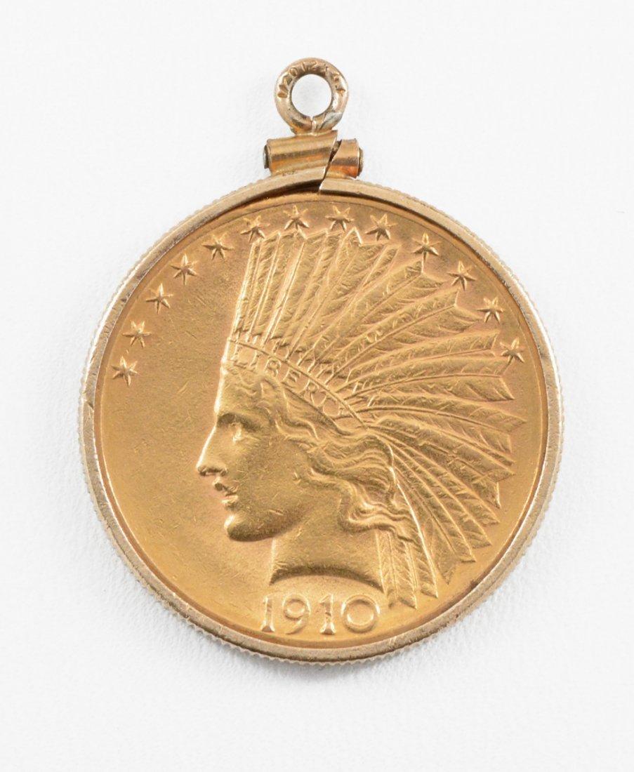 1910 D $10 Indian Head Gold Eagle