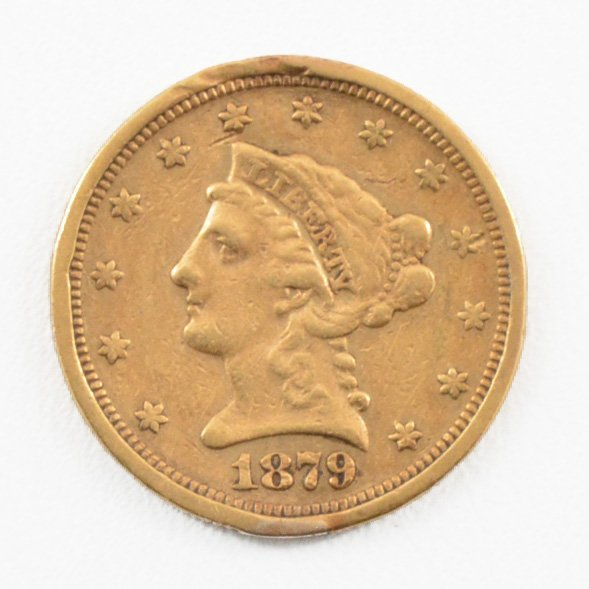 1879 S $2-1/2 Liberty Head Gold Coin.