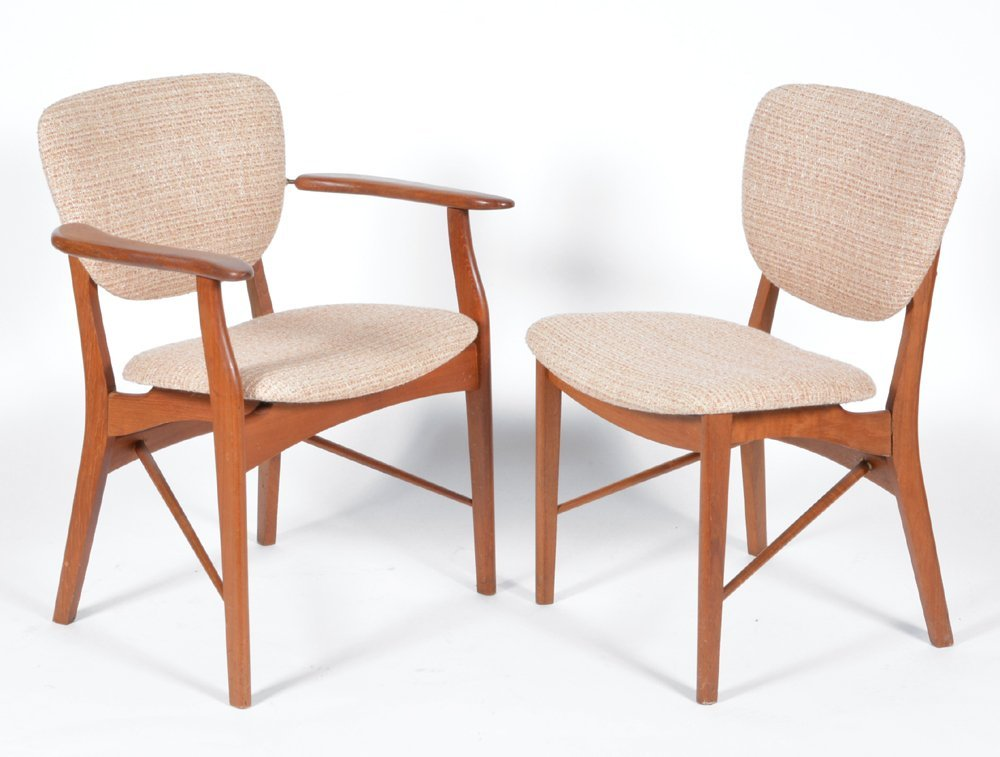 Finn Juhl dining chairs, set of 8 Niels Vodder
