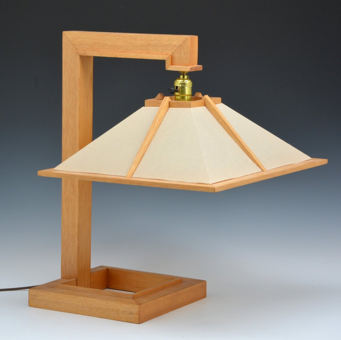 Frank Lloyd Wright Taliesin Table Lamp, mahogany