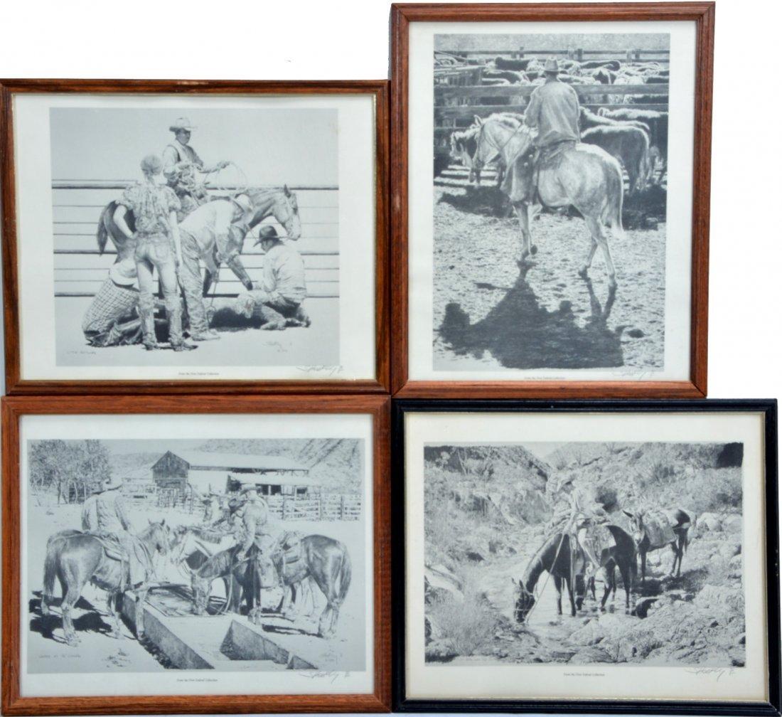 4  Robert ''Shoofly'' Shufelt Prints. All Pencil Signed