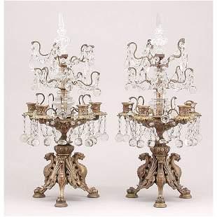 Ornate Pair of Candelabras