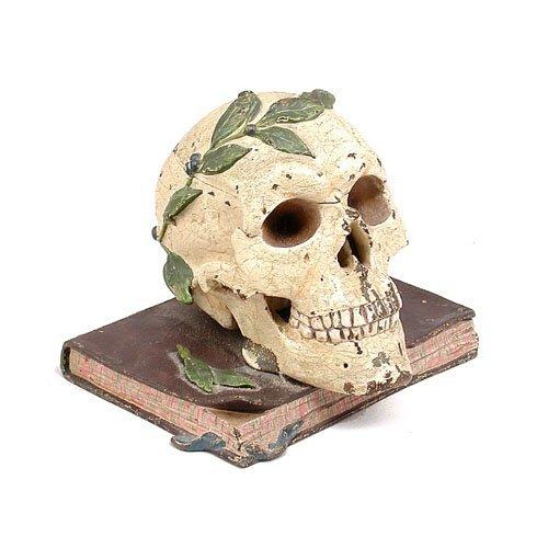 5: Austrian Bronze Skull Inkwell