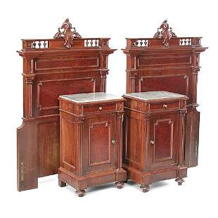 Pair of Victorian 1/2 Commodes & Beds
