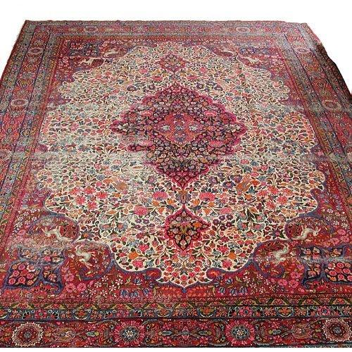 19: 19th c. Room Size Persian Carpet