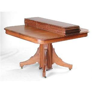 Square Walnut Victorian Table