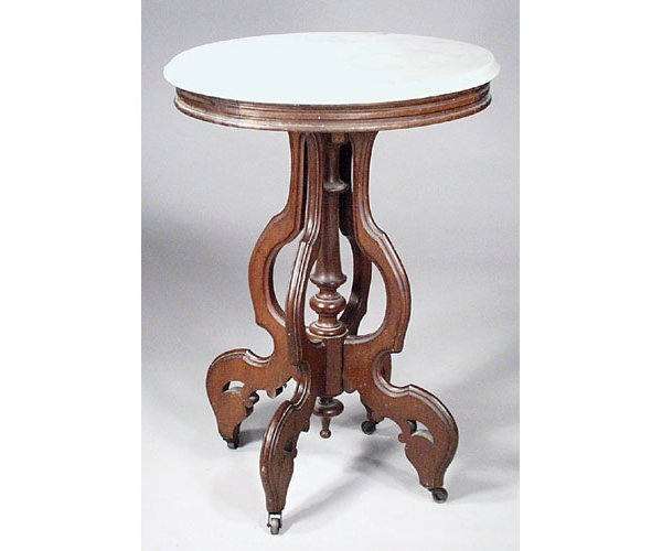 2: Victorian Marble Top Table.